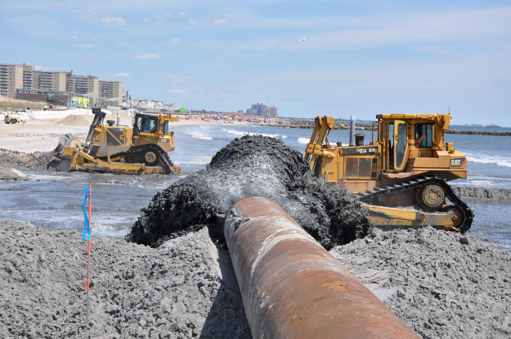 Beach Nourishment At Rockaway Beach