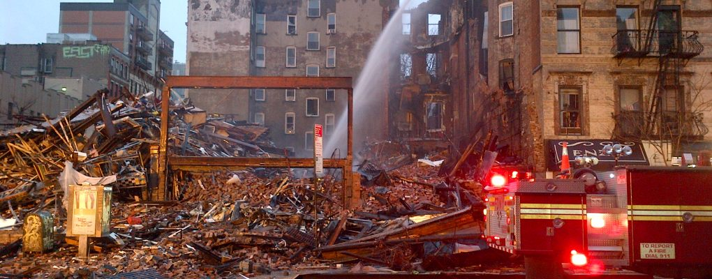 Building collapse.  Courtesy of NYCEM.