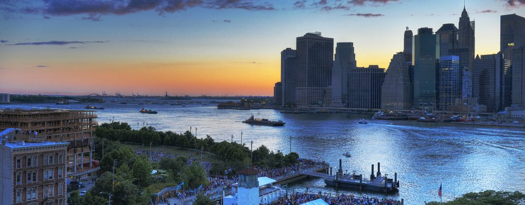 Sunset over the East River just before the start of the Macy's 4th of July Fireworks