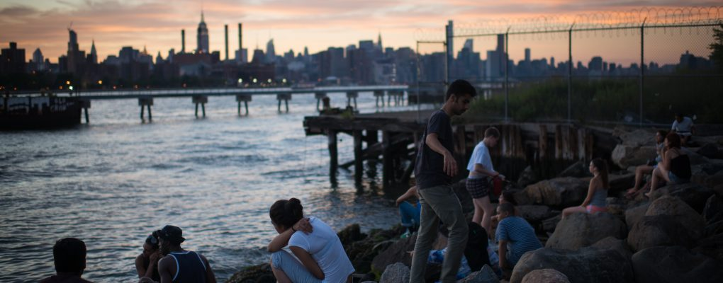 Williamsburg waterfront with Manhattan skyline. Michael Appleton/Mayoral Photography Office