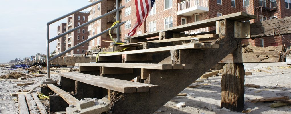 Hurricane sandy building damage. Courtesy of NYCEM