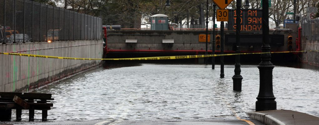 Brooklyn Battery Tunnel flooding. Courtesy of NYCEM