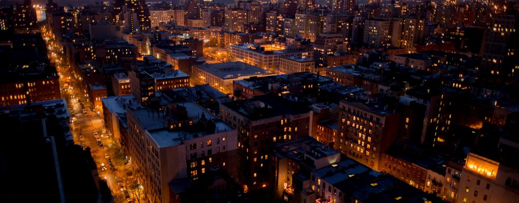 Cityscape at night. Courtesy of NYCEM.