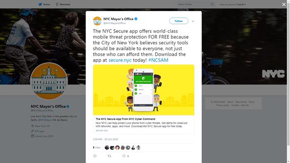 NYC Mayor's Office Twitter