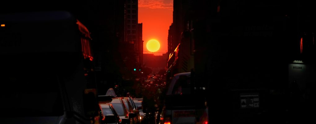 Manhattanhenge on 34th Street