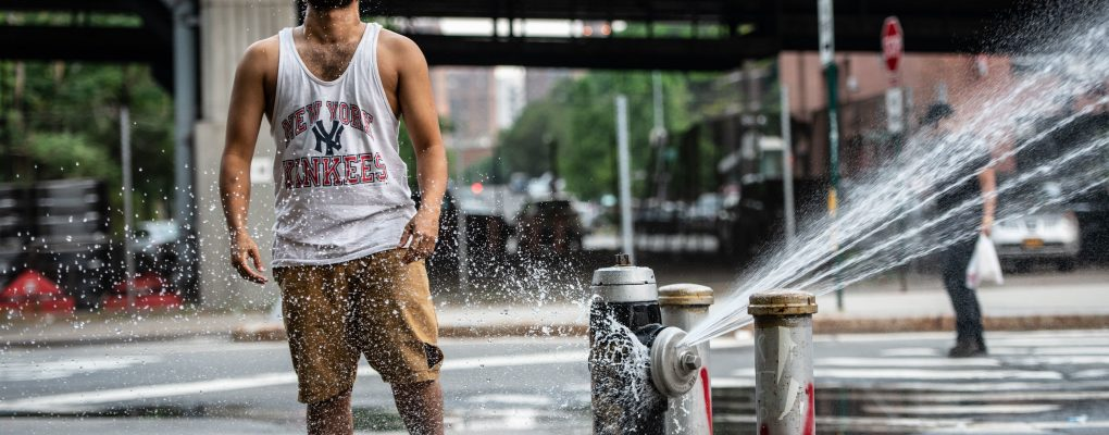 Cooling off New York City style with a fire hydrant on Pitt Street on the Lower East Side on Tuesday, July 3, 2018. Michael Appleton/Mayoral Photography Office