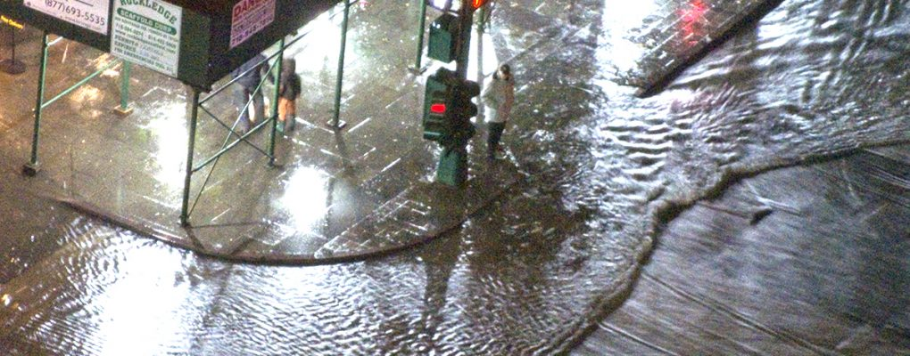 Flooding at West Street. Courtesy of MTA.