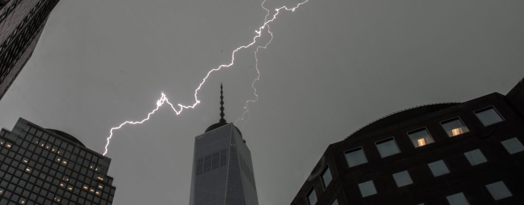Lighting at WTC 1.  Courtesy of the Mayor's Office of Photography