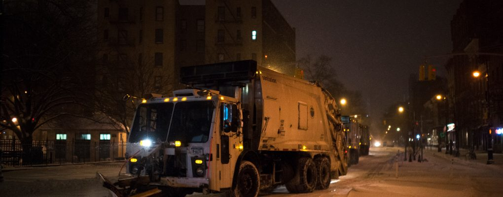 DSNY snow fighting equipment. Courtesy of Mayor's Office of Photography.