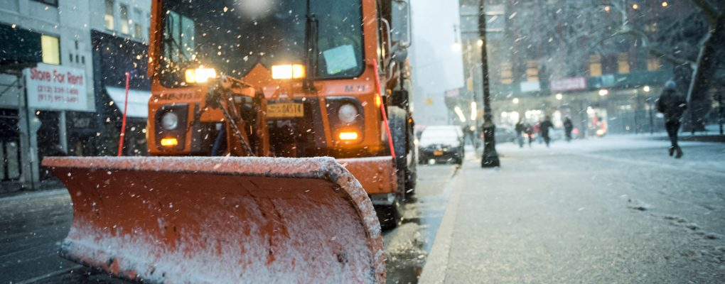 DSNY snow plow. Courtesy of Mayor's Office of Photography.