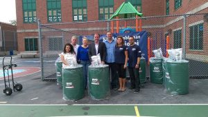 Rain Barrel Give Away Event. Source: NYC DEP.